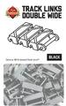 ブリックマニア・トラックリンク:ダブルワイド(150個セット)/シングルワイド(200個セット)・ブラック