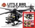 AH-6 リトルバード 軽攻撃ヘリコプター(カスタムフィグ5体付き)