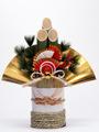 【d2003】A3日本の正月!門松と金色の扇