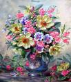 【2-33】A2   Square 碧い花瓶の花