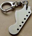 ギター・ヘッド型キーホルダー ラージ・へッド (ステンレス)