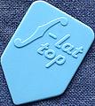12枚を1セットで1000円!マンドリン・ピック F-TOP HB (ジュラコン・水色)