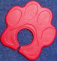 ストラップ・ホールド 内径9.5mmタイプ(肉球・PPB赤)