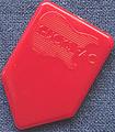 ホームベース型 HB-MOON SHAPE(6ナイロン・赤)*テスト販売
