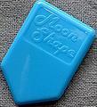 ホームベース型 3.0mm HB-MOON SHAPE 105A(6ナイロン・水色)