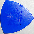 12枚を1セットで1000円!SCALE CHIP トライアングル R015-3 taper shape (ジュラコン・青)