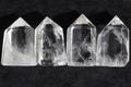 結界浄化!高品質ブラジル産水晶4本セットA7【高品質・透明・光沢・希少】