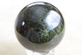 極上超激レア!ロシア産ブラックグリーンダイオプサイト丸玉【最高品質・高波動・超光沢・レインボー・超激レア】