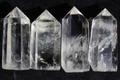 【50%オフ!】浄化結界!高品質ブラジル産水晶4本セットA5【高品質・透明・光沢・希少】