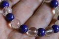 【セール品40%オフ!】極上!5A最高品質ガネーシュヒマール水晶10mm玉*ラピスラズリブレスレット【最高品質・超透明・光沢・激レア】