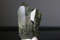 ツインクリスタル!高波動ロシアウラル産クローライト水晶40mm【最高品質・高波動・透明・光沢・レインボー・超激レア】