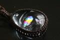 【40%オフ!】最高品質!レインボー水晶ペンダント【最高品質・超透明・光沢・レインボー・激レア】