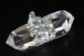 極上究極!レコードキーパー&DT!超透明インドマニハール産水晶19.6g【最高品質・超透明・超光沢・レインボー・レコードキーパー・DT・超激レア】