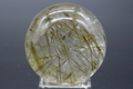 激レア!角閃石ガネーシュヒマール水晶39mm丸玉【高品質・透明・光沢・レインボー・激レア】
