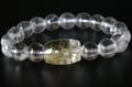 【40%オフ!】極上天珠!最高品質ガネーシュヒマール水晶10mm玉ブレスレット【最高品質・超透明・光沢・レインボー・激レア】