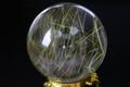 極上!超透明ゴールドルチルクォーツ53mm丸玉【最高品質・超透明・超光沢・激レア】