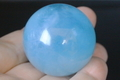 極上ブルー!マダガスカル産アクアマリン39mm丸玉【高品質・光沢・透明・超激レア】
