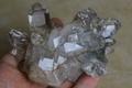 極上!超透明インドマニハール産水晶クラスター【最高品質・超透明・超光沢・レインボー・超激レア】