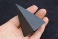 浄化・電磁波対策用!シュンガイト・ハイピラミッド70mm3【高品質・光沢・激レア】