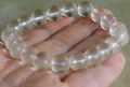 高波動!ロシア・ウラル産ゴールデンレムリアン水晶10.5mm玉ブレスレットA【高品質・透明・光沢・激レア】