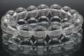 極上!山梨県産・光の水晶ブレスレット12mm玉【最高品質・高波動・超透明・超光沢・超激レア】