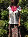 マヤンブラス チャムラ―村手刺繍  半袖