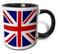 【3dRose Union Jack Mug】3dRose ユニオンジャック ツートーンブラック マグカップ