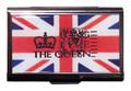 【Union Jack】ユニオンジャック&クラウン シルバー カードケース「The Queen」