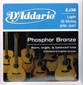 EJ38 D'Addario(ダダリオ) 12弦 10-47 Light Phosphor Bronze  1030円