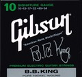 Gibson B.B. King Signature  エレキ弦 SEG-BBS Pure Nickel 10-54   1500円