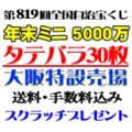 タテバラ30枚(ミニ5000万)・大阪特設売場