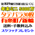 タテバラ30枚(ミニ5000万)・有楽町/新橋