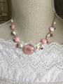 大人可愛いピンクの春色ネックレス