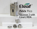 Eleaf iStick Pico Squeeze 2 100W + Coral 2 RDA with 21700Battery