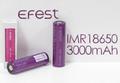 efest Purple IMR 18650 3000mAh Li-Mn 35A Battery Flat top【PSE付】