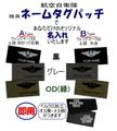 航空自衛隊 【隊員】ネームタグパッチ オリジナル名入れのみ+裏ベルクロ加工