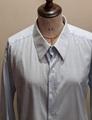 1960's薄ボーダーダブルカフスドレスシャツ SH71