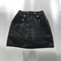 fake leather short pants skirt