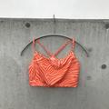 orange zebra short tops
