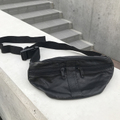 fake leather double zip fanny pack