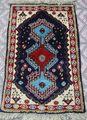 NO366 手織り絨毯   92×51cm