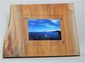 木製フォトフレーム KG版はがきサイズ壁掛け対応 No.11 欅