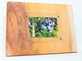 木製フォトフレーム KG版はがきサイズ壁掛け対応 No.10 欅