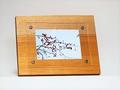 天然木フォトフレーム L版サイズNo.4 欅の木製写真立て