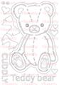 [single color]Teddy bear  A6サイズ
