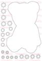[back color]Teddy bear  A5サイズ