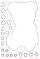 [back color]Teddy bear  A6サイズ