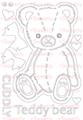 [single color]Teddy bear  A5サイズ