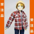 ◆受注品◆七分袖チェクシャツ レッド系