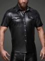 メンズ/フェイクレザー製■タイトフィットシャツ